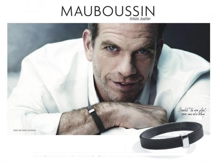 bracelet acier et or Mauboussin